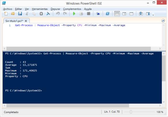 get-process-measure-object-property-cpu-minimum-maximum-average-powershell-windows