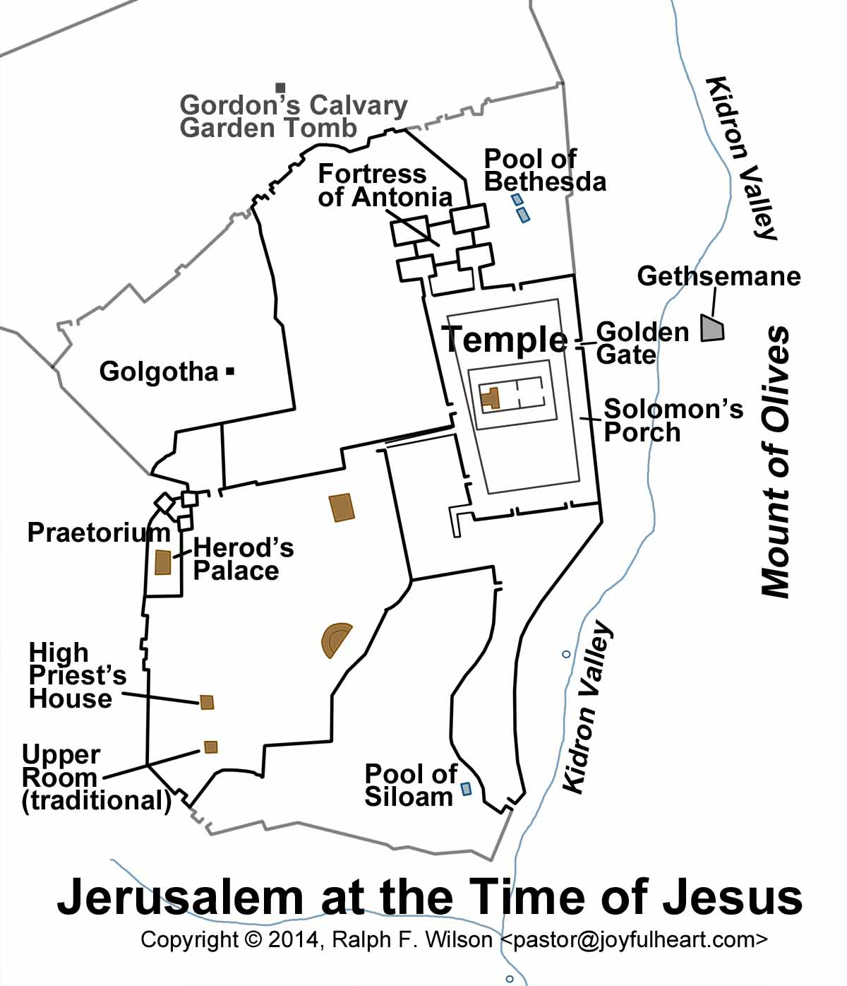 Maps Related To John S Gospel By Ralph F Wilson