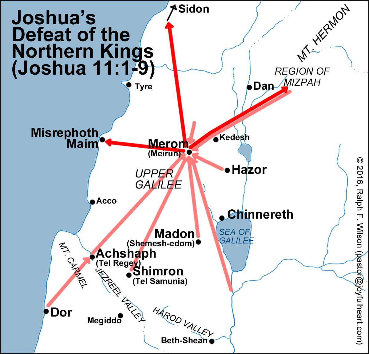 Image result for joshua 11 map of cities northern
