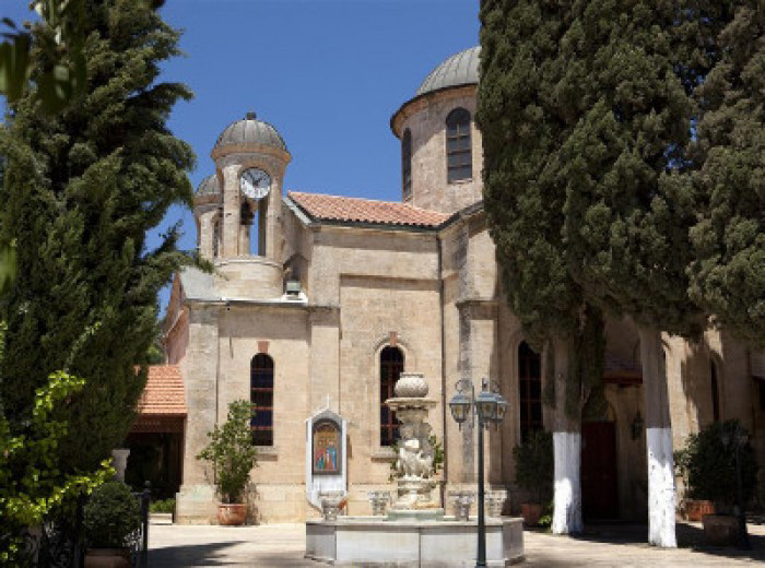 Wedding church in Cana, Galilee, Israel