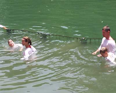 Private Israel tour: Baptism in Jordan River