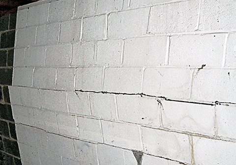 Foundation Wall Cracks - Horizontal - These types of cracks are caused by pressure and can take the form of hydrostatic pressure or expansive soils. Water or soil pushes against your foundation walls, creating areas of weakness. Over time you'll start to notice horizontal cracks and eventually bowed walls.