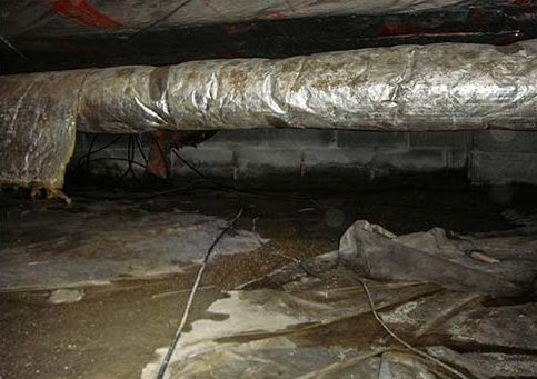 Cheap Crawl Space Vapor Barrier - you get what you pay for.