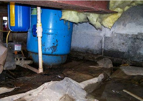 Crawl Space Vapor Barrier - damage caused underneath your house affects your entire house
