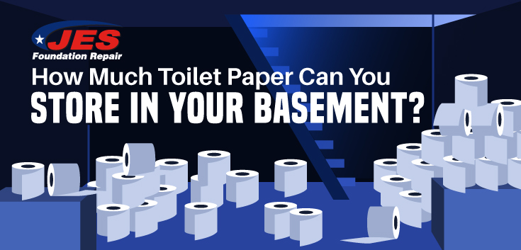 How Much Toilet Paper Can You Store in Your Basement?
