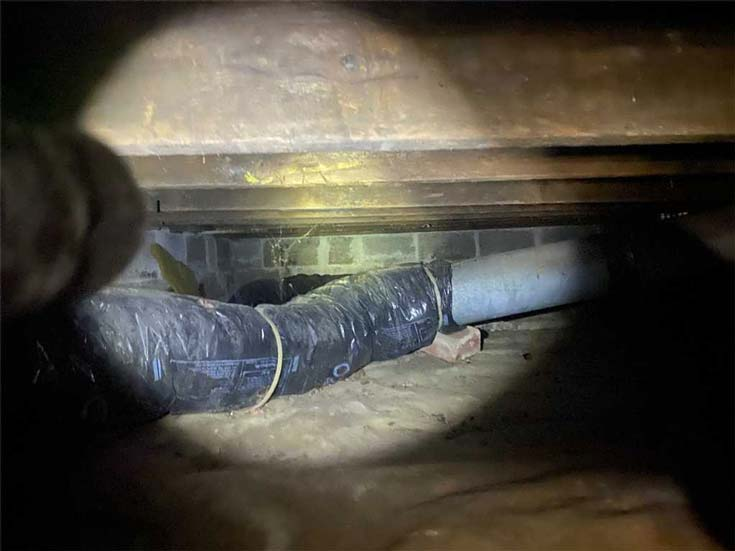 Inspection in a crawl space
