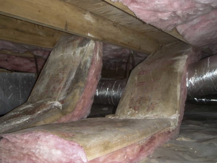 crawl space insulation maintenance
