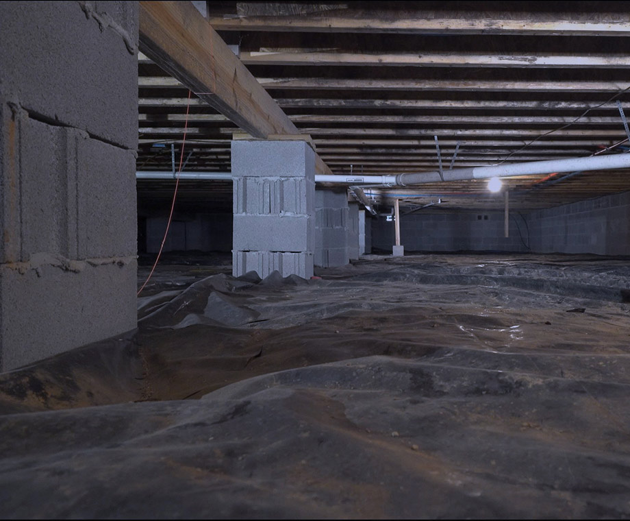 before crawl space encapsulation
