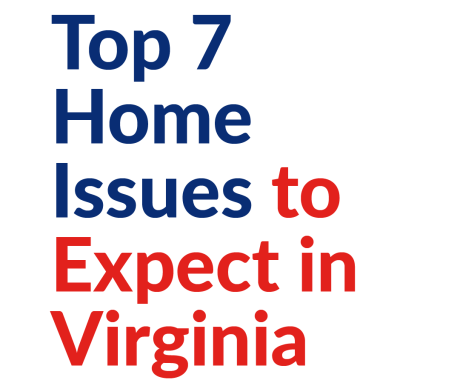 Top 7 Home Issues to Expect in Virginia