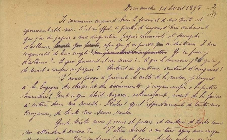 Exposition – Manuscrits de l'extrême Prison, passion, péril, possession (BnF)