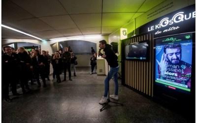 Roman Frayssinet inaugure le Kiosque du métro