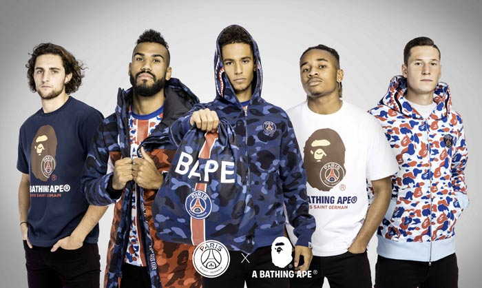 BAPE x Paris Saint-Germain (collection capsule limitée)