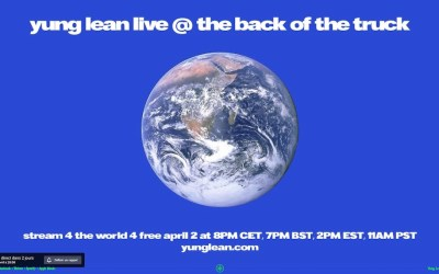 YUNG LEAN «Livestream 4 the world» Jeudi 2 avril – 20H #stayhome