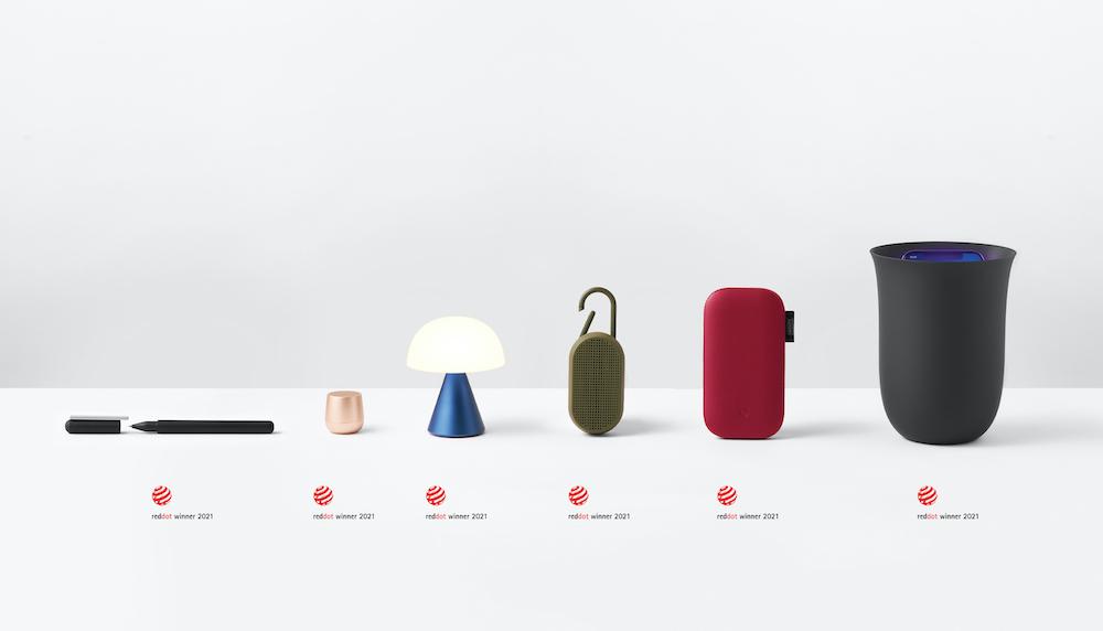 Lexon bat un record avec 6 victoires au Red Dot Design Award 2021