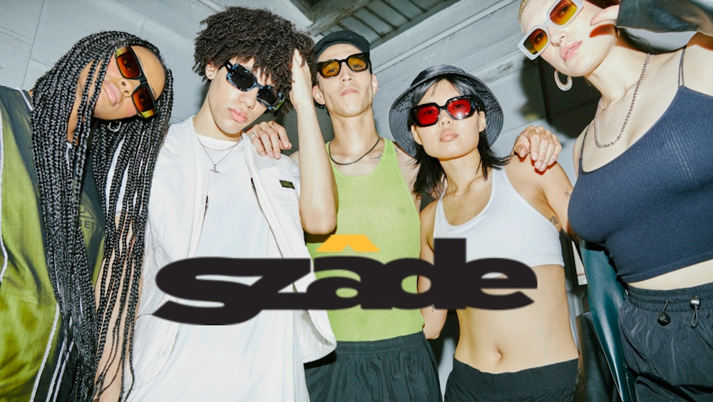 SZADE : sunglasses ; made from recycled sunglasses