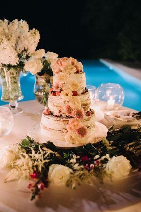 gâteau de mariage nu