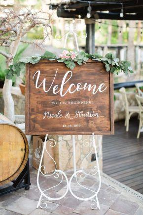 signe de bienvenue de mariage de destination