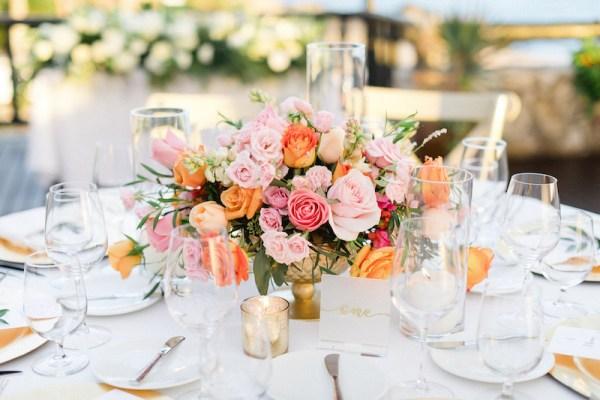 mariage de destination à los cabos décor de table