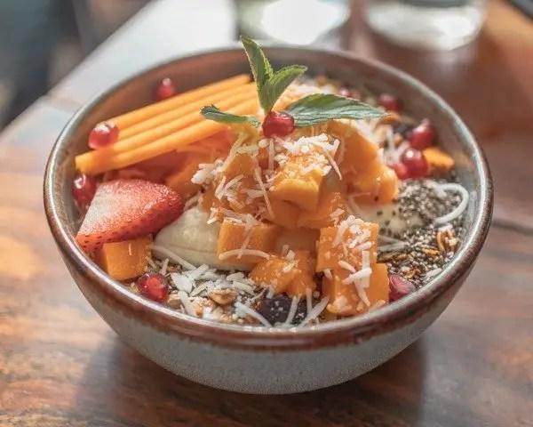 Granola and yogurt bowl from DelCielo