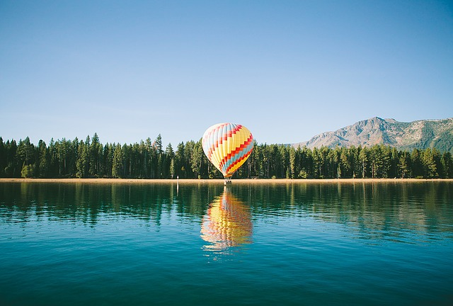 romantic hot air balloon ride in Europe