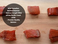 Wild Caught Canadian Smoked Salmon Maple Nuggets