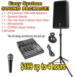 Sound and light Rental