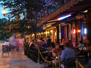 Trip Ideas person outdoor night evening meal restaurant Bar people crowd