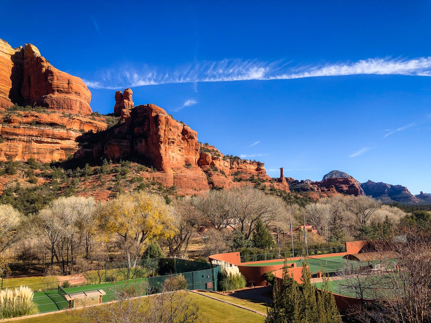 Sedona view from Tii Gavo Restaurant