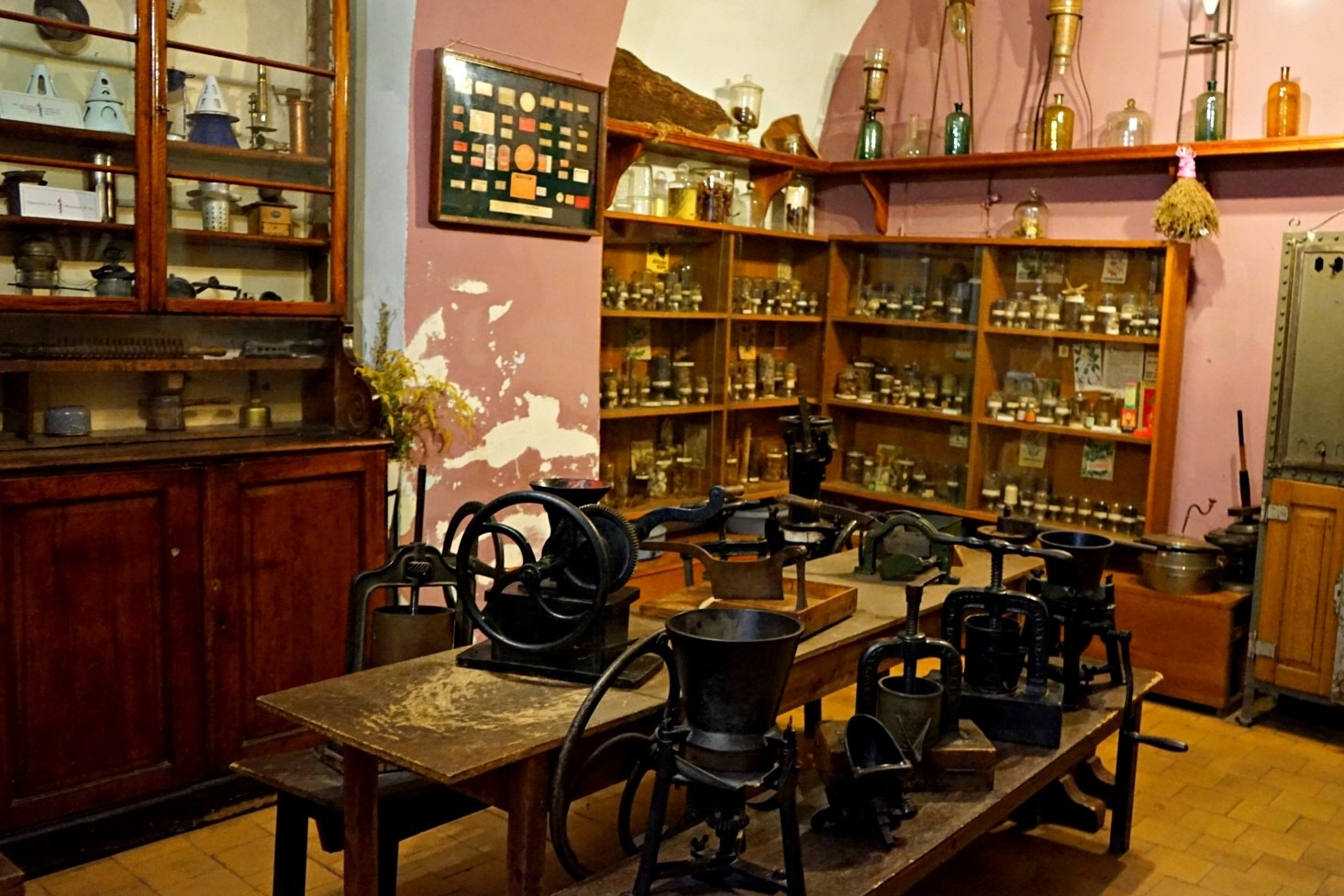 The exhibition hall in Pharmacy museum in Lviv