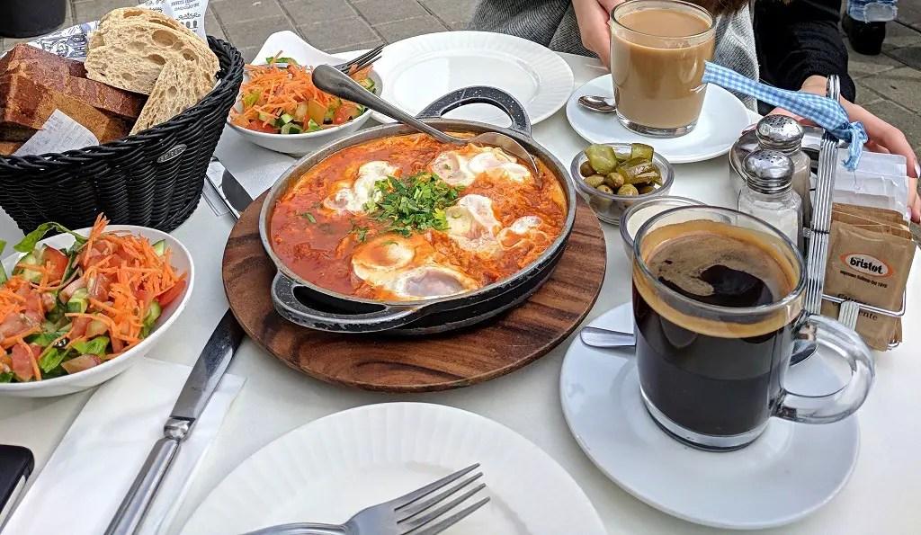 Shakshuka breakfast Israel