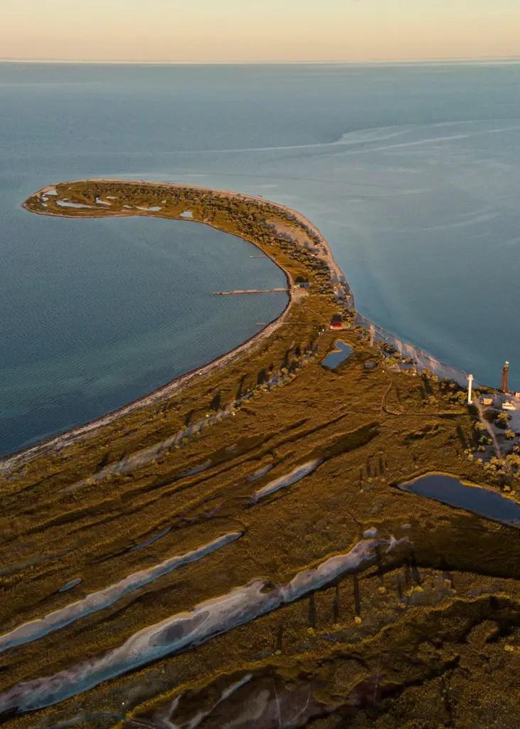 Dzharylhach island. Drone photos