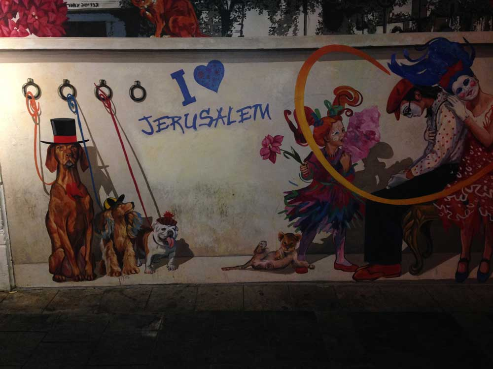 Mural outside our flat