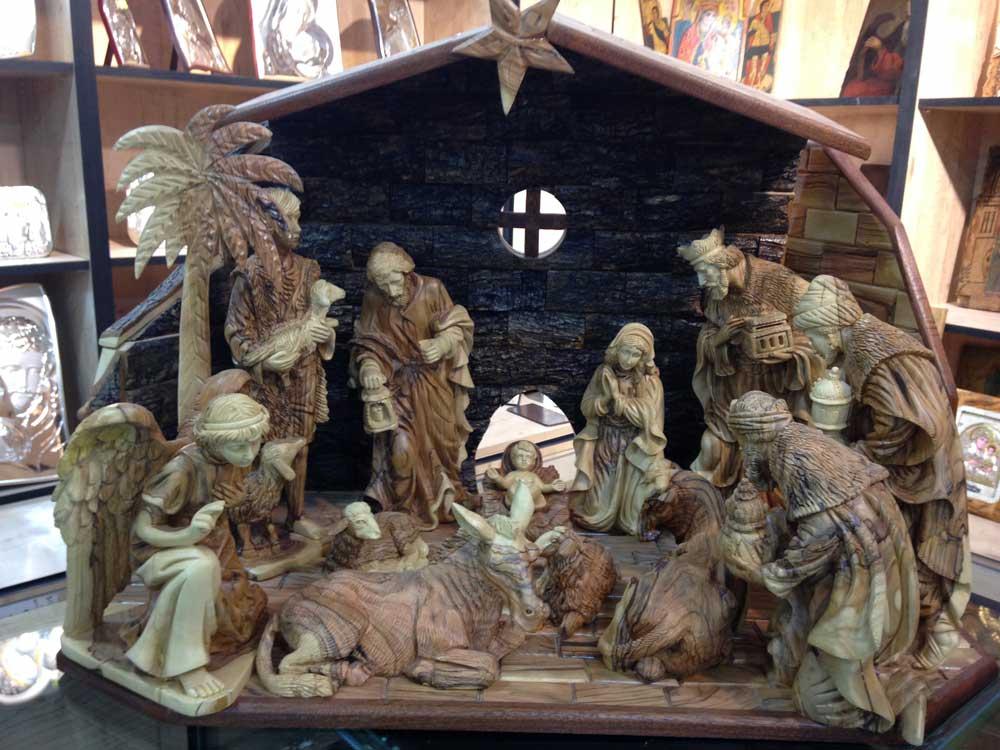 Nativity carving