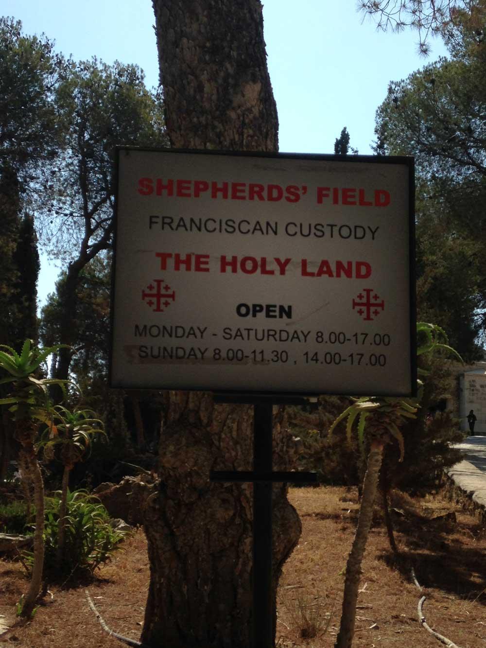 Shepherds' Field Sign