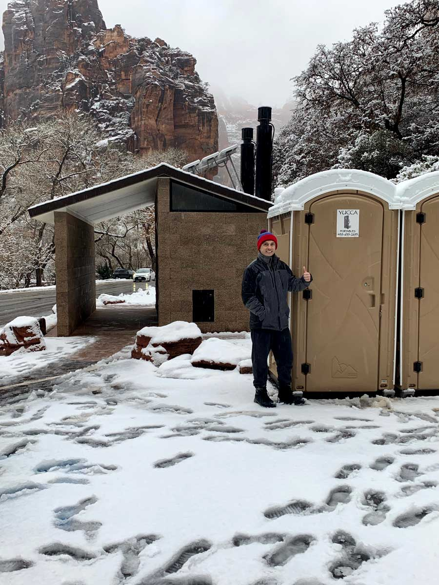 The outhouses, Zion