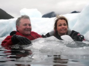 Jett and Kathryn at Le Conte Glacier - by Mary Barros