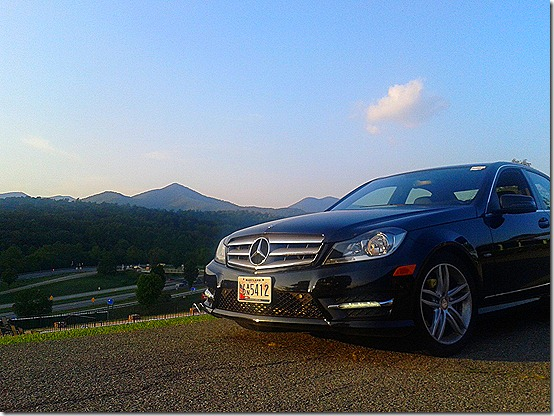 Mercedes-Benz C250 - in the Blue Ridge Mountains of Virginia