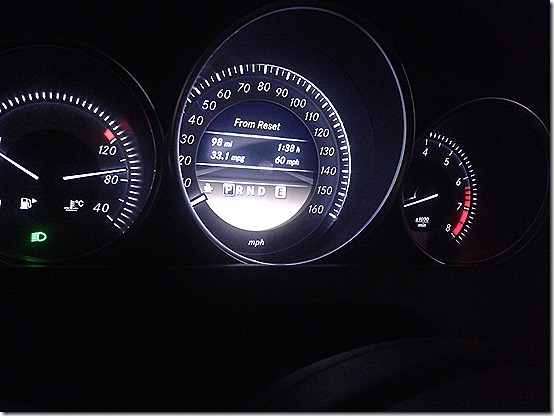 Mercedes-Benz C250 gauges and interior