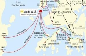 Ferries between Shekou, Shenzhen, Hong Kong, Macau, and Zhuhai