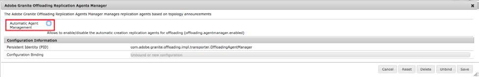 Disable automatic agent management