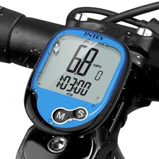 INTEY Fahrradcomputer Kabellos, Wasserdicht Drahtloser 13 Modi Fahrradtacho