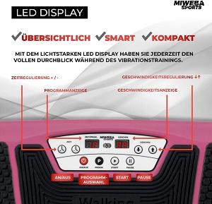 3D Vibrationsplatten Bedienung und Funktionen