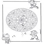 Malvorlagen Kindermandalas Malvorlagen Mandalas