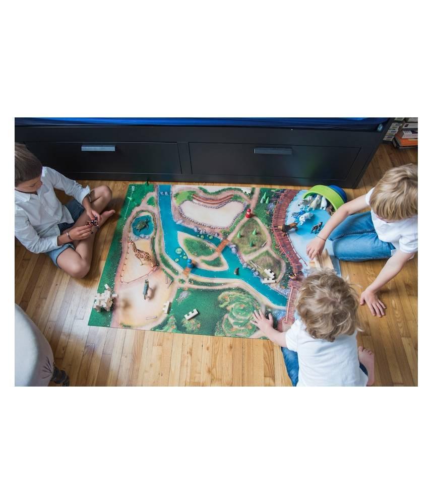tapis de jeu royaume des animaux carpeto