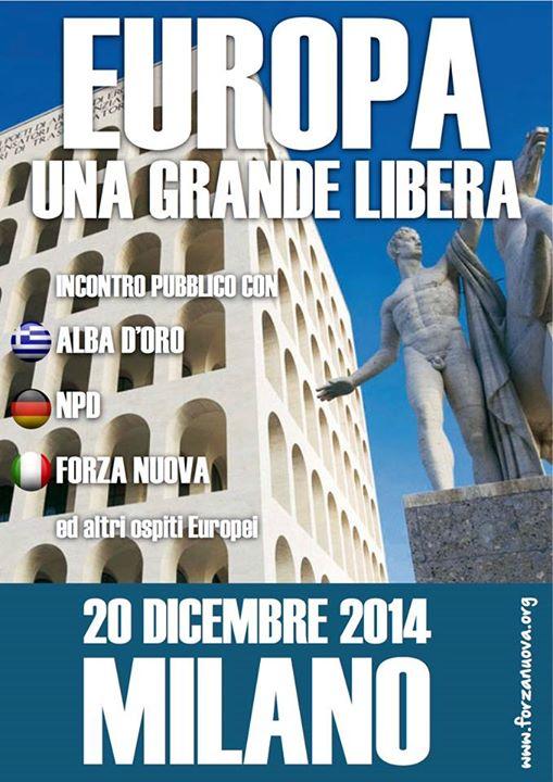 Congrès nationaliste Europe Milan