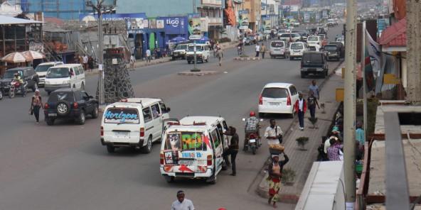 L'artère principale de la ville de Goma, le 25 février 2015. Photo d'illustration.