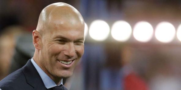 Zinedine Zidane, le 26 mai 2018, après la victoire du Real Madrid en Champions League.