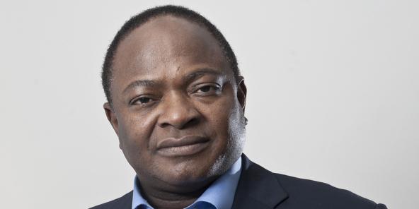 Adama Sangaré, maire du District de Bamako, en novembre 2017 à Paris.