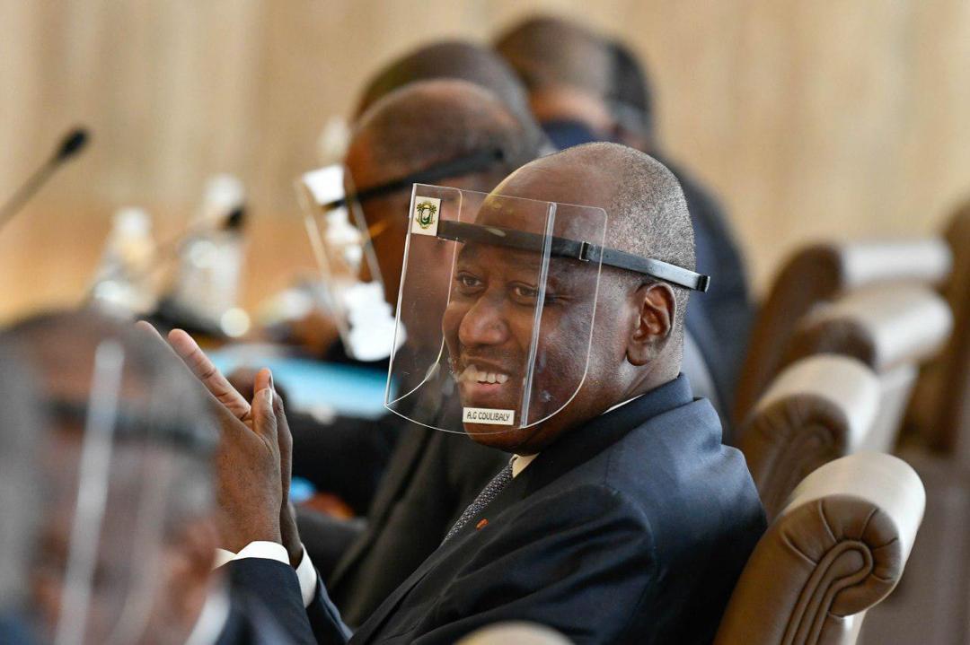 Amadou Gon Coulibaly, ce mercredi 8 juillet, quelques instants avant d'être victime d'un malaise en conseil des ministres