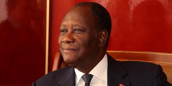 Alassane Dramane Ouattara, le 17 avril 2013.
